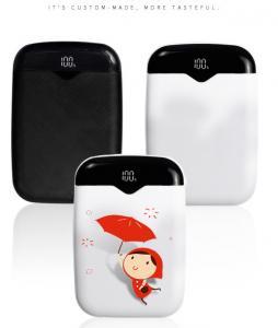China Li - Polymer Battery Slim Power Bank High Capacity Mini Dual Output Interface on sale