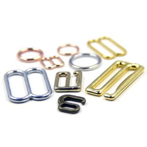 China Niris Lingerie High Quality Swimsuit Metal Ring Metal Zinc Alloy Bra Adjuster And Slider Wear Buckle on sale