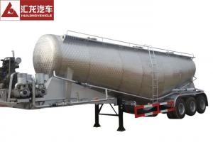 China Aluminum Alloy Bulk Cement Trailer , Dry Bulk Cement Trailers Lightweight Design on sale
