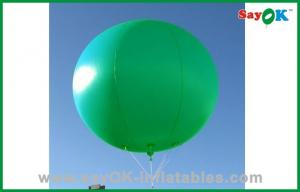 China Holiday Inflatable Balloon Vivid Green Color Inflatable Helium Balloon on sale