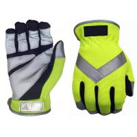 Spandex Traffic Safety Gloves , Reflective Traffic Gloves Free Sample