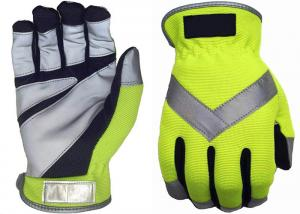 China Spandex Traffic Safety Gloves , Reflective Traffic Gloves Free Sample on sale