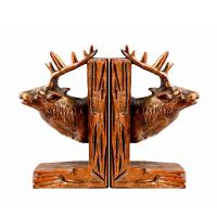 Deer Reindeer Stag Home Decor Bookends Red Brown For Library Study Room
