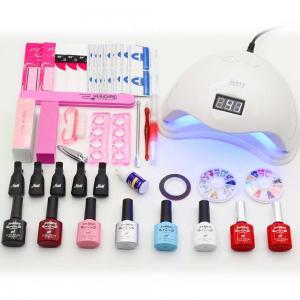 China 36W 48W led lamp timer nail dryer 6 colors uv gel polish nail art kit set uv gel polish manicure tools set sticker remov on sale