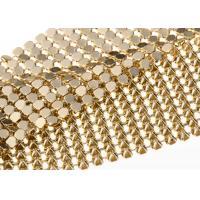 Aluminum 4MM Gold Sequin Fabric Flexible Table Cloth Shrink - Proof