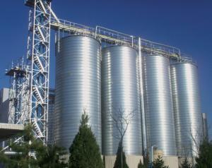 China Steel Corrugated Grain Silo Corn Storage Hot Dipped Galvanized Material on sale