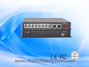 China 8Port Telephone line to Fiber Converter with 2ch gigabit ethernet for armed police system on sale