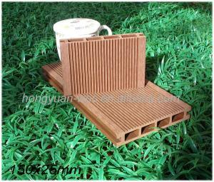China Recycled material waterproof WPC decking floor on sale
