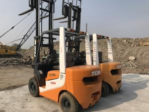 China 2009 Year Second Hand Forklifts , TCM 3 Ton Rough Terrain Forklift 54HP Engine Power on sale