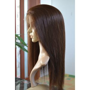 China Beautiful Natural Looking Silky Straight Indian Remy Hair Hand Tied Full Lace Wig on sale