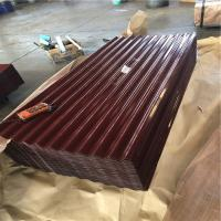 HF-009 iron oxide red color corrugated roofing sheets with the thickness 0.15-1.2mm