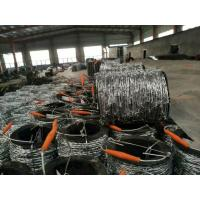 2mm * 2mm  1.6mm * 1.6mm Galvanized Barbed Wire, Hot Dip Galvanized Iron Wire Fence