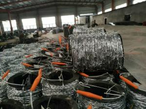China 2mm * 2mm  1.6mm * 1.6mm Galvanized Barbed Wire, Hot Dip Galvanized Iron Wire Fence on sale