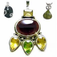 Honorable Nepalese style amber gemstone semi precious stone pendants for children