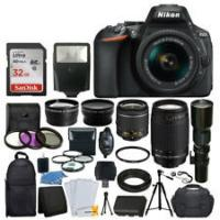 Cheap Nikon D5600 DSLR Camera w/ 18-55mm VR + 70-300mm VR + 500mm +32GB