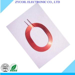 China Multilayer Red Air Core Coil , Resistance Toroid Coil Winding For Sensor on sale