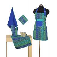 Ladies Apron, Adult Apron, Blue Kitchen Apron, Full Cooking Apron, Kitchen Apron, Floral Apron, Gift For Her, Full Apron