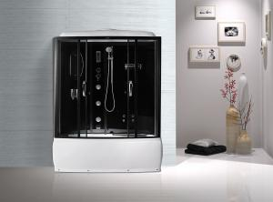 China Black  Profiles Enclosed Bath Shower Unit , Complete Shower Stall Kits on sale