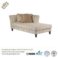 Modern Leisure Linen Chaise Lounge Couch For Hotel , Velvet Chaise Lounge