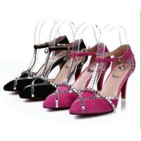 China wholesale singapore lady's French toe style dress shoes, women rhinestone pointed shoes on sale