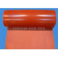 China Silicone Rubber Coated Glass Fiber Fabric Cloth , Heat Resistant Silicone Impregnated Cloth on sale