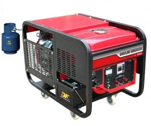 China 10KW Air-Cooled LPG Gas Engine Generators Single Phase 110V - 240V LPG11000 on sale