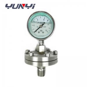 China diaphragm hydraulic oil pressure gauge on sale