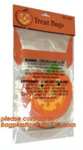 China Halloween disposable tin tie paper bag/bread/popcorn/fries/chips/cookies/candies/goodies bags with  bagease bagplastics on sale
