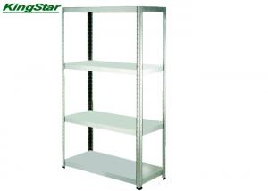 China Four Tier Metal Storage Rack Unit , Galvanized Industrial Shelving System on sale
