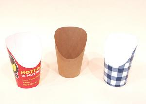 China Heavy Weight French Fry Cups Greaseproof For Restaurant , 4 Color Process Printing on sale