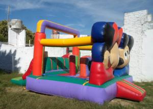 China Customized Mickey Mouse Inflatable Bounce House Moonwalk Bouncers With Logo Printing on sale