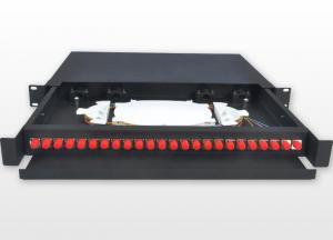 China 19 Inch FC 1U Fiber Optic Rack Mount Patch Panels 450 * 277 * 45mm For Network on sale