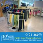 contemporary invisible wall attachment of various size clothes store wood display shelf