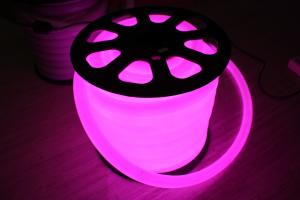 China 220v purple 360 degree round 100leds/m led neon flex light for building supplier