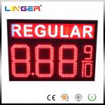 IP65 Waterproof Electronic LED Digital Gas Price Screen Customized Design Installation