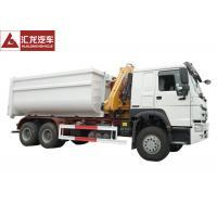 Hydraulic Waste Bin Trucks Foldable Crane  Carbon Steel Box Easy Operation