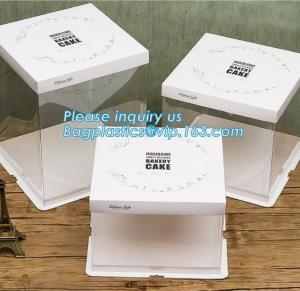 China Cheap Custom Cupcake Handle Box Cake Boxes Wholesale,Take Away Birthday Cake Boxes Cardboard Boxes Cake Boxes bagplastic on sale