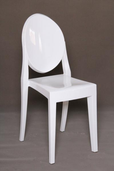 Contemporary Stackable White Armless Victoria Ghost Chair For Ballroom  Ceremony Event Images