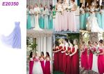 Long Chiffon Wedding Bridesmaid Dresses For Guest Wedding Party Multi Color Optional