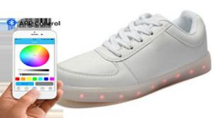 China Youth Students Light Up Dance Shoes , USB Rechargeable Light Up Shoes App Control on sale