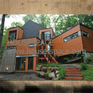 China Waterproof Steel Camp Prefab Container House / Holiday Hotel For Mountainous Areas on sale