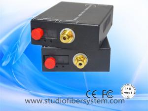 China 1CH RCA audio to fiber converters over sm fiber to 120KM for professional AV&broadcast system on sale