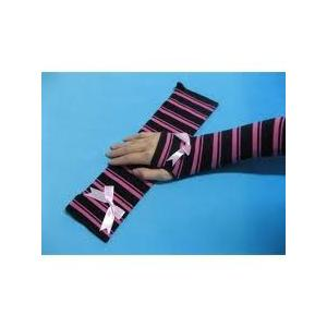 China OEM eco-friendly Winter Cotton / polyamide Girls Long Fingerless Gloves Knitted Arm Warmer on sale