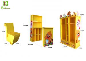 China Children'S Cartoon Cardboard Display Furniture With Bookcase Water Proof on sale