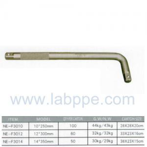 """Quality F3010-Phosphating curved rod L-TYPE HANDLE 1/2"""" X 10""""CRV L Type Wrench Handle for sale"""
