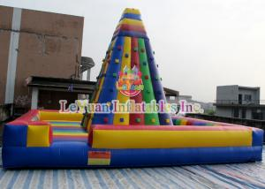 China Outdoor Inflatable Sport Games , Interactive Inflatable Rock Climbing Wall on sale