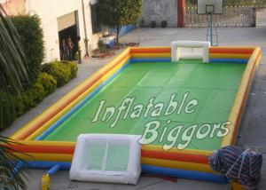 China Adult / Children Birthday Party Inflatable Sports Games , Outdoor Inflatable Soccer Pitch on sale