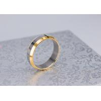 Cool Simple Gold Plated Finger Rings , Stainless Steel Mens Gold Plated Rings