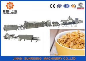 China Breakfast Cereal Corn Flake Production Line Capacity 120 - 150kg / H Steady Performance on sale