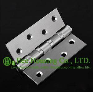China Brushed Finished 304 stainless steel Hinges for timber doors,ball bearing hinges, no noise on sale